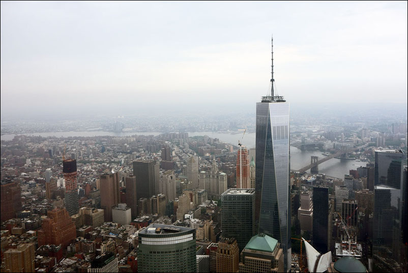 View of NYC from helicopter